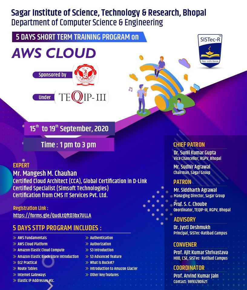 Short Term Training Program on AWS CLOUD