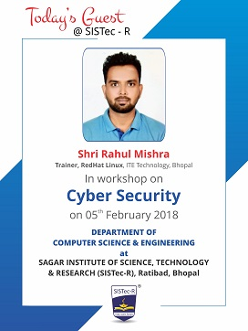 tech talk cyber security, sagar group, sistec, sagar institute, sagar group of institutions, top private engineering colleges in india